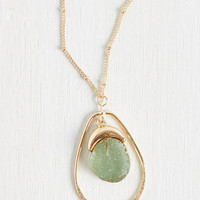 Center of Retention Necklace in Moss