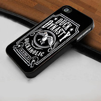 Duck Dynasty Duckaholic Label - Hard Case Print for iPhone 4 / 4s case - iPhone 5 case - Black or White (Option Please)