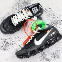Off-White x Nike Air VaporMax Black White Running Shoes - Best Deal Online