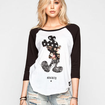 Neff Disney Collection Swag Womens Baseball Tee Black/White  In Sizes