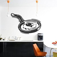 Wall Vinyl Sticker Decal Egg Cooking in a Skillet Nursery Room Nice Picture Decor Mural Hall Wall Ki662