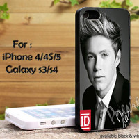 Nial Horan One Direction 1D Cool Style for iPhone 4, iPhone 4s, iPhone 5, Samsung Galaxy S 3, Samsung Galaxy S 4 Case
