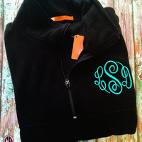 Pullover Quarter-Zip Fleece Monogrammed