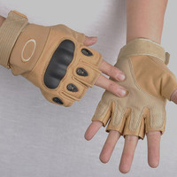 Yellow Military Cycling Half-Finger Gloves