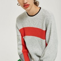 Sporty Blocked Crop Jumper | Topshop