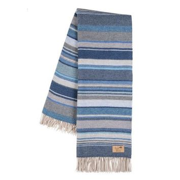 Milano Blue Italian Throw Blanket from Lands Downunder