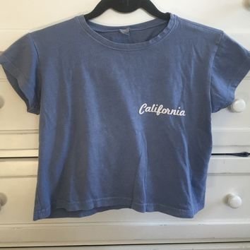 Brandy Melville blue California cropped tshirt