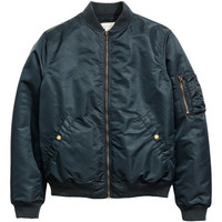 Padded Bomber Jacket - from H&M