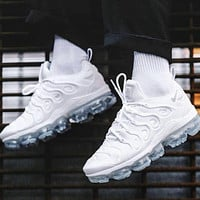 Nike Air Vapormax Plus Triple White&Black Basketball Shoes Sneakers