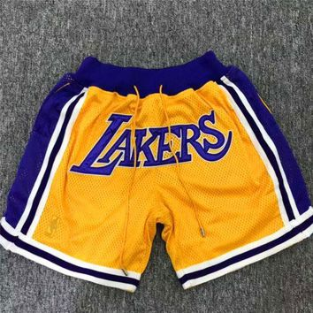 Just Don Jerry Fog Lebron Lakers Shorts | Best Deal Online