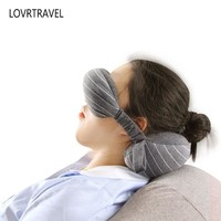 Multi-function Portable Combo Pillows Travel Pillow Neck Airplane Pillow Comforts of Home with Eye Mask Foam Particle Filling