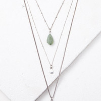 Layered Mixed Pendant Necklace