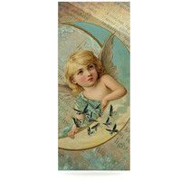 """Suzanne Carter """"Angel"""" Teal Yellow Luxe Rectangle Panel"""