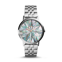 Vintage Muse Three-Hand Stainless Steel Watch – Gray