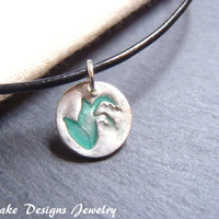 Lily of the Valley necklace eco friendly recycled fine silver jewelry