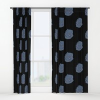Blue Rose Window Curtains by drawingsbylam