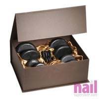 Hot Stone Massage Therapy Set | Melts Away Tension - Ease Muscle Stiffness - Set of 16 pcs
