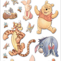 Disney Winnie The Pooh Gems Stickers Packaged - Pooh