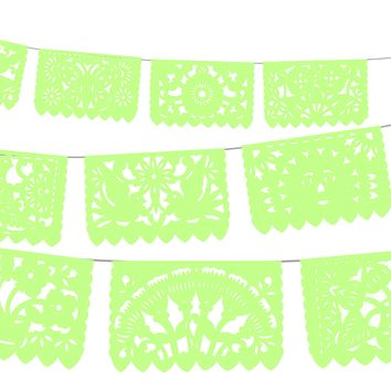 5 PK, Papel picado party decor, 60 feet long banner, Fiesta Decorations Garland, Mexican Party Supplies, Mexican Bridal shower banner, WS2009