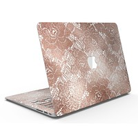 Rose Gold Lace Pattern 7 - MacBook Air Skin Kit