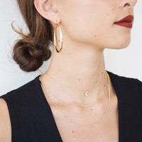 Mini Moon Layer Necklace