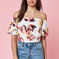 Kendall and Kylie Tie Front Off-The-Shoulder Top at PacSun.com