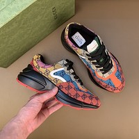 Gucci2021 Men Fashion Boots fashionable Casual leather Breathable Sneakers Running Shoes08240YPH