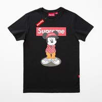 Cheap Women's and men's supreme t shirt for sale 85902898_0135