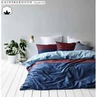 Maddox 100% Cotton Reversible Quilt Cover Set by Gainsborough
