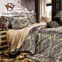 BeddingOutlet Royal Bedding Noble Classic Gold Home Textiles European Style Tribute Silk Bed Linen for Bedroom Queen 4Pcs