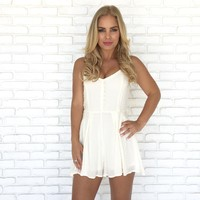 On The Dot Romper in Ivory