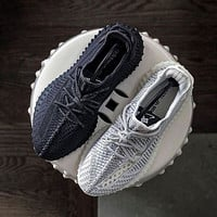 Hipgirls Adidas Yeezy 350 V2 Boots Static Popular Women Men Comfortable Sport Running Shoes Sneakers Black