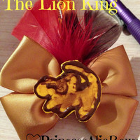 Disney's The Lion King Simba Cave Painting Hair Bow