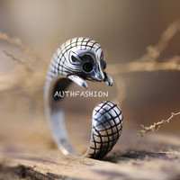Retro Little Hedgehog Ring Funny Animal Ring Unique Jewelry Free Size gift Idea