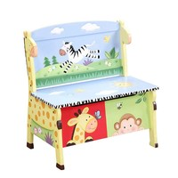 Teamson Kids Fantasy Fields Sunny Safari Storage Bench (Blue)