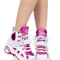 SHINY PINK HIGH CYBER SNEAKER