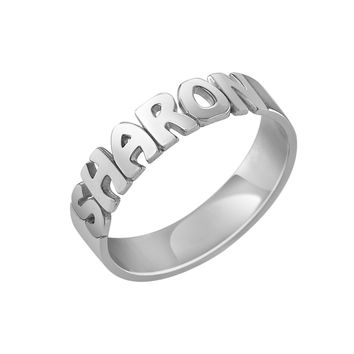 Alison and Ivy Bubble Name Ring (4.7mm)