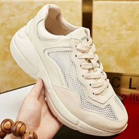 GUCCI 2018 new wild fashion men's thick-soled retro old shoes #3