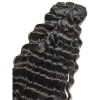 Indian Remy Deep Wave Human Hair Extensions - Wefted Hair 18""
