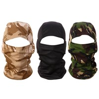 Men Women Mask Balaclava Hat Hooded Neck Hunting Fishing Face Mask Outdoor Bike Motorcycle Helmet Beanies Masked cap