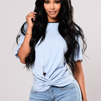 Fool For You Tee - Heathered Blue