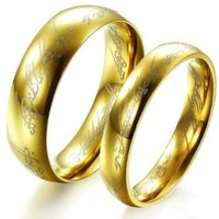 Fashion Ring the Lord of the Rings Couple Jewelry Stainless Steel Wedding Ring 320 M9