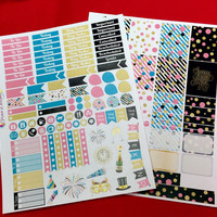 New Years Planner Stickers Limited Edition Kit for Erin Condren Life Planner