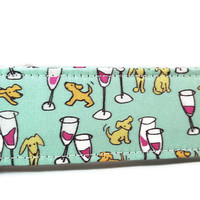 Wine and Dogs Dog Collar - Wine - Unisex Dog Collar - Martingale Option