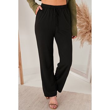 Easy As Can Be Knit Sweatpants (Black)