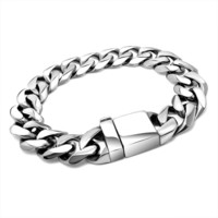 New Arrival Awesome Hot Sale Shiny Gift Great Deal Men Titanium Accessory Stylish Fashion Strong Character Ring Bracelet [6526756227]