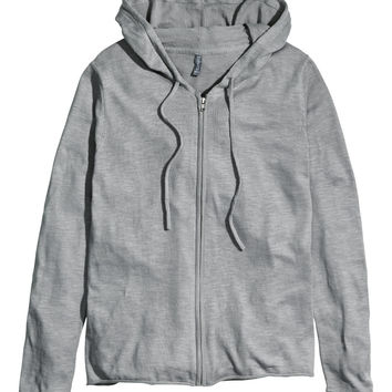 H&M - Knit Hooded Top - Gray - Men