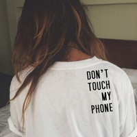 White  Casual Letter Print T-Shirt