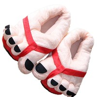 NEW 2016 House Shoes Cute Happy Big Feet Style Giant Toe Footwear Winter Warm Plush Slippers Soft Unisex Indoor Shoes