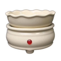 2 in 1 Electric Candle Tart Warmer - Cream